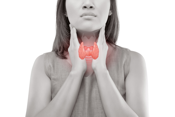 woman thyroid gland mild hypothyroidism