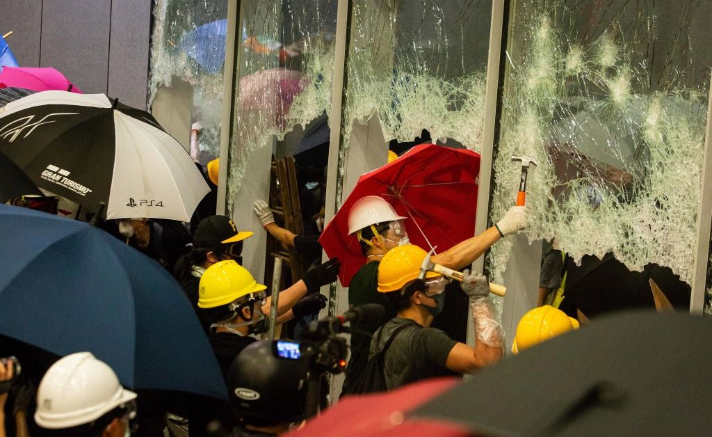 China Has Reacted to the Storming of the U.S. Capitol by Comparing It to the Wrecking of Hong Kong's Legislature